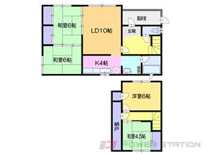 小樽市新光4丁目0一戸建貸家間取図面