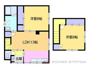 小樽市清水町1一戸建貸家間取図面