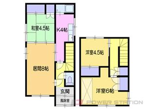 小樽市末広町0一戸建貸家間取図面