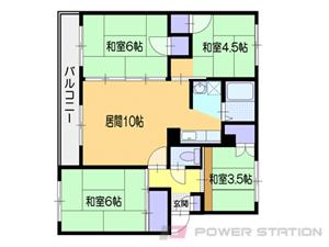 小樽市新光4丁目0賃貸マンション間取図面