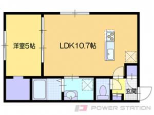 小樽市緑2丁目11賃貸アパート間取図面