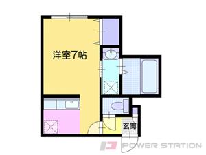 小樽市緑1丁目01賃貸アパート間取図面