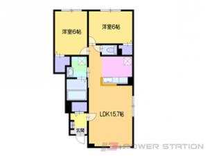 小樽市長橋1丁目11賃貸アパート間取図面