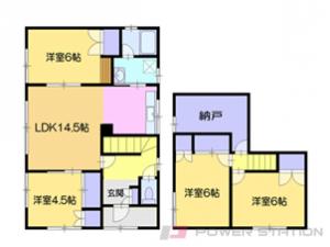 小樽4SLDK一戸建貸家図面