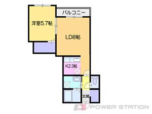 小樽市勝納町01賃貸アパート間取図面