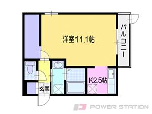 小樽市花園3丁目01賃貸アパート間取図面