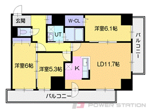 小樽市入船1丁目01賃貸マンション間取図面