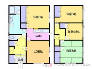 小樽市奥沢4丁目0一戸建貸家間取図面