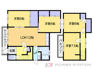 小樽築港4LDK一戸建貸家図面