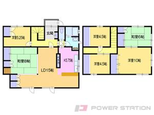 小樽市最上2丁目0一戸建貸家間取図面