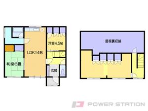 小樽市赤岩2丁目0一戸建貸家間取図面