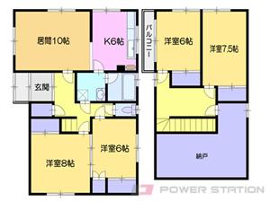 小樽市幸2丁目1賃貸アパート間取図面