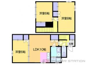 小樽市豊川町1一戸建貸家間取図面
