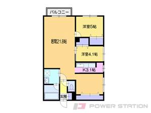 南小樽2SLDKマンション図面