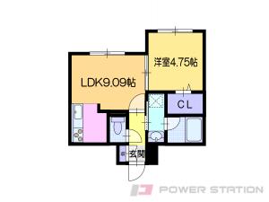 南小樽1LDKマンション図面