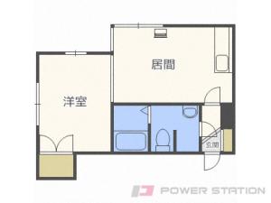札幌市中央区北18条西15丁目1賃貸アパート間取図面