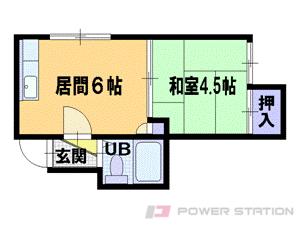 札幌市中央区北16条西15丁目1賃貸アパート間取図面