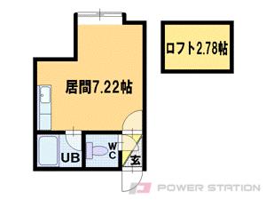 桑園1Rアパート図面