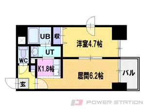 札幌市中央区南3条西13丁目0賃貸マンション間取図面