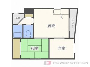 札幌市中央区宮の森4条1丁目1賃貸マンション間取図面