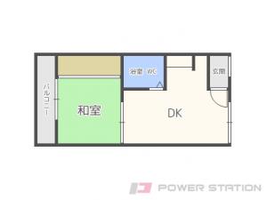 札幌市中央区宮の森4条1丁目1賃貸アパート間取図面