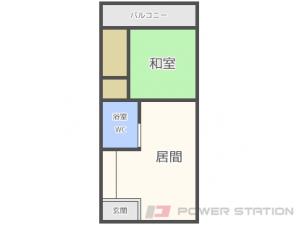 二十四軒1LDKアパート図面