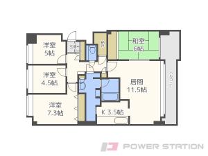 札幌市中央区北9条西24丁目0分譲リースマンション間取図面