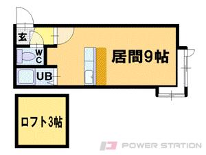 札幌市中央区北8条西26丁目0賃貸アパート間取図面