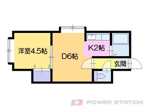 札幌市中央区北9条西21丁目0賃貸アパート間取図面