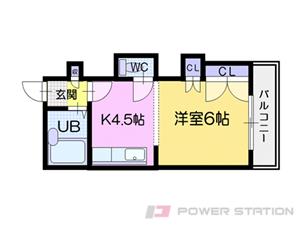 札幌市中央区北9条西19丁目0賃貸マンション間取図面
