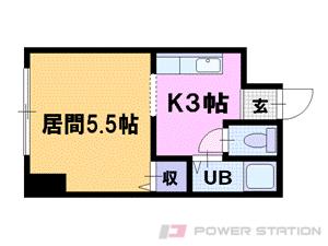 札幌市中央区北8条西19丁目0賃貸マンション間取図面