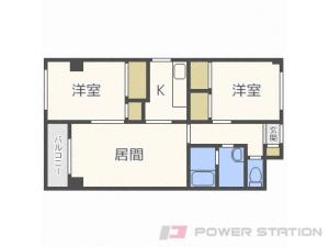 札幌市中央区北7条西12丁目0賃貸マンション間取図面