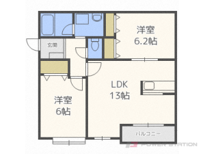 札幌市中央区北7条西11丁目0賃貸マンション間取図面