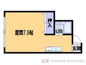 札幌市中央区北4条東5丁目0賃貸マンション間取図面