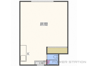 バスセンター前1Rマンション図面