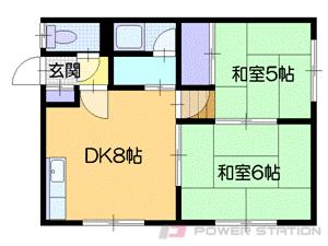 札幌市中央区宮の森3条6丁目0賃貸アパート間取図面