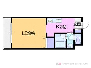 札幌市中央区宮の森4条6丁目0賃貸マンション間取図面