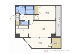 二十四軒1LDKマンション図面