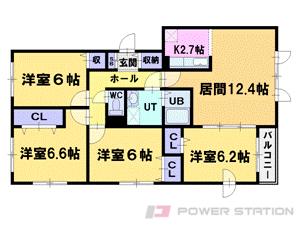 二十四軒4LDKマンション図面