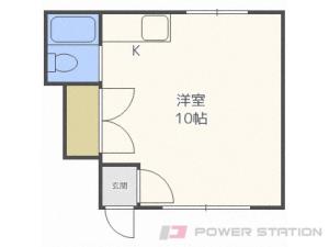 札幌市中央区宮の森2条5丁目1賃貸アパート間取図面