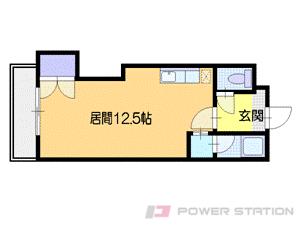 札幌市中央区宮の森3条6丁目0賃貸マンション間取図面