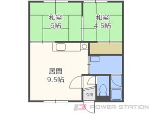 札幌市中央区宮の森2条2丁目0賃貸アパート間取図面