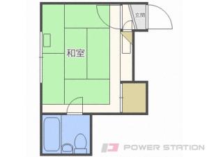 札幌市中央区北8条西25丁目0賃貸アパート間取図面
