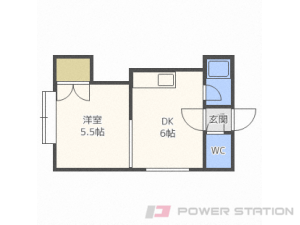 札幌市中央区北8条西24丁目1賃貸アパート間取図面