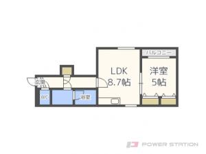 札幌市中央区北6条西27丁目1賃貸マンション間取図面