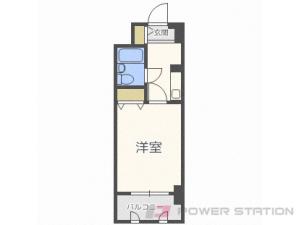 札幌市中央区北6条西25丁目0分譲リースマンション間取図面
