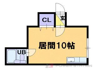 札幌市中央区北6条西26丁目1賃貸アパート間取図面