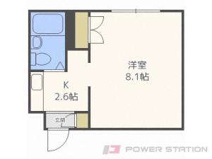 札幌市中央区北6条西18丁目0賃貸マンション間取図面