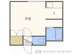札幌市中央区北6条西19丁目0賃貸アパート間取図面