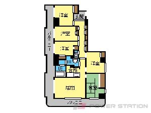 西18丁目5LDK分譲リースマンション図面